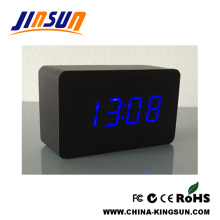 Fashion Clock For Table Black With Blue Led