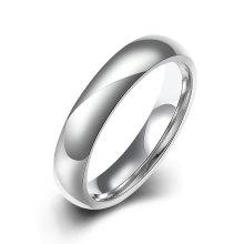 Forme a titanio la joyería plateada plata simple del anillo del esmalte de la manera