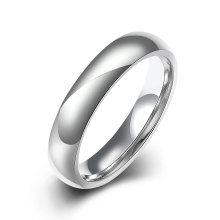 Moda Titanium Steel Simples Glaze Ring Silver Plated Jewelry