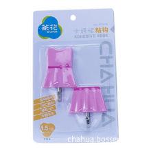 Plastic Adhesive Hooks, Clothes Shape, 5*5.5*2.13mm (Short Skirt) 4.53*7.5*2.05 (Long Skirt)