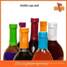 Hitzeempfindliche, anpassbare, attraktive, manipulationssichere Schrumpfbänder für Flaschenhalsverpackungen