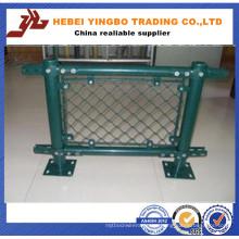 Revestimiento de PVC verde y poste de cercado redondo de acero galvanizado