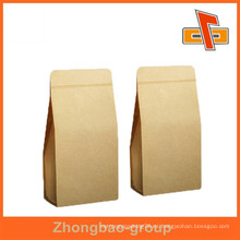 Guangzhou vendor personalizable grabado de impresión de plástico a prueba de humedad sello de calor marrón kraft bolsas de papel