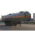 10.9m Tri-axle Flammable Liquid Tank نصف مقطورة