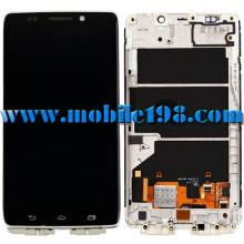 Pantalla LCD con toque digitalizador con carcasa frontal para piezas Motorola Droid Ultra Xt1080