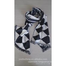 2017 jacquard mercerized wool shawl
