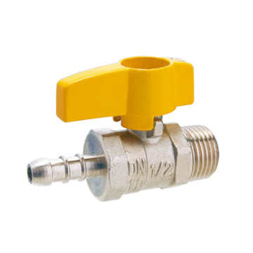 Mannelijke Butterfly Handle Messing Gas Ball Valve