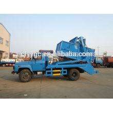 Dongfeng capacidad 6cbm sistema hidráulico brazo rollo contenedor camión de basura
