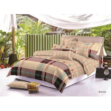 Printed  polyester microfibre bedding set bed set  70-140gsm