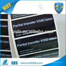 Impressão personalizada auto adesivo adesivo de vinil garantia inviolável selo de segurança vazio