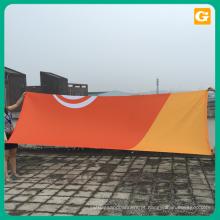 Publicidade ao ar livre 18 oz 20 oz 22 oz rua vinil bandeira impressão pendurado malha bandeira