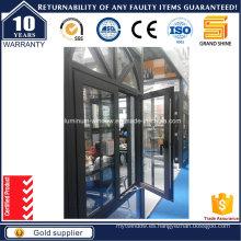 Parrillas de aluminio de revestimiento Ventana de guillotina con alta calidad