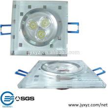 Shenzhen oem muere la iluminación combinada de la lámpara de la fan del techo de la aleación de aluminio de la fundición
