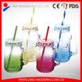 Juice Beverage Mason Jar Beverage Jam Glass Jars with Lid