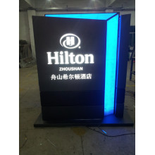 Outdoor Hotel Entrance Exit LED Instruction Directory Guide Pylon Sign
