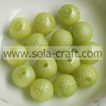 Factory Direct 8MM Wrinkle Effect Lucite Plating Green Beads For Christmas Decoration Accessories