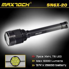 Maxtoch SN6X-20 haute puissance et longue portée 6000 Lumens 26650 Batteries et chargeur lampe de poche