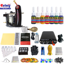 Solong TK105-20 Beginner Tattoo Kit with Tattoo Gun Power Supply Tattoo Kits With Needles