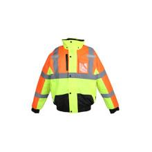 100% poliéster 3m chaqueta reflectora de seguridad bombardero