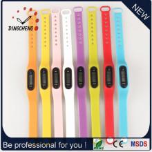 Montres à pédomètre montre bracelet bracelet en silicone (DC-003)