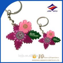 Bestes verkaufendes Blumen-Form-leeres Acryl Keychain