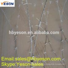 Anping fábrica alambre de púas cercado precios / peso alambre de púas