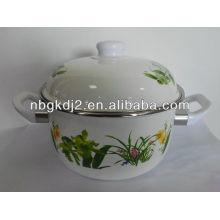 enamel cookware pot with bakelite handle