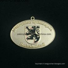 Znic personnalisé alliage décharge médaille d'or