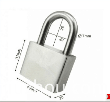 304 40mm short-shackle stainless steel padlock