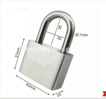 304 40mm short-shackle stainless steel padlock