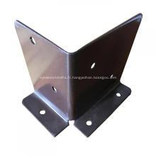 Support de clôture métallique en acier galvanisé enduit de poudre