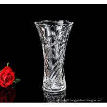 Crystal carved glass bottle