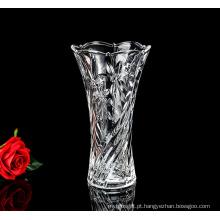 Garrafa de vidro cristal esculpida