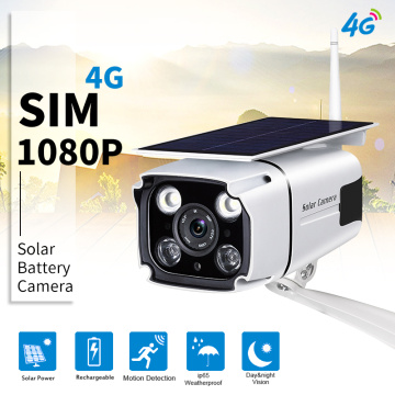 4G Camera Surveillance 1080P Bullet Solar Camera