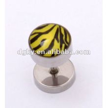 wholesale fashionable leopard printing ear stud jewelry