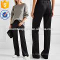 Wool-twill Wide-leg Pants Manufacture Wholesale Fashion Women Apparel (TA3018P)