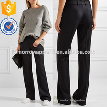 Wool-twill Wide-leg Pants Manufacture Wholesale Fashion Women Apparel (TA3018P)