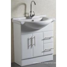 Сантехника Пол-установленный Твердый шкаф ванной комнаты с тазиком (а-75)
