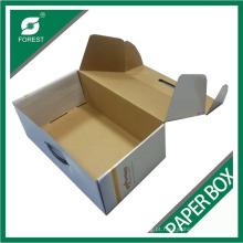Caixa de papel ondulado brilhante