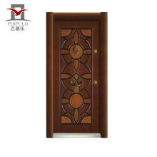 Puerta blindada de acero de nuevo diseño, puerta blindada de pavo de acero