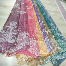 Polyester Warp Paper Printing Lace Window Curtains Fabric