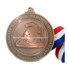 Competição por atacado prêmio rodada medalha personalizada