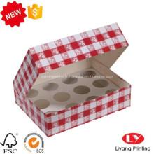 Boîte de nourriture de cupcake bon marché avec la fenêtre claire