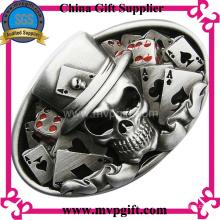 Металлическая пряжка с 3D гравировкой логотипа