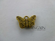 Gold Color Plated Cute Butterfly Charm Zinc Alloy Jewelry Pendant