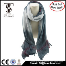 New solf material high quality gradient color thin shawl scarf use in beach