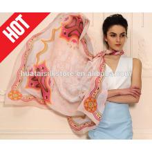 Alibaba expreso para la bufanda de seda impresa cuadrada grande