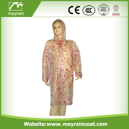 Transparent PVC Raincoat