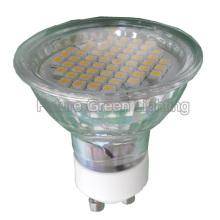 Bulbo del punto del LED GU10 / MR16 / E27 / E14 54SMD 3W con la cubierta