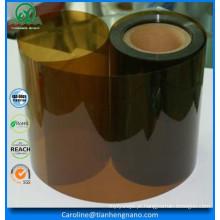 Folha de plástico rígido transparente transparente farmacêutica PVC